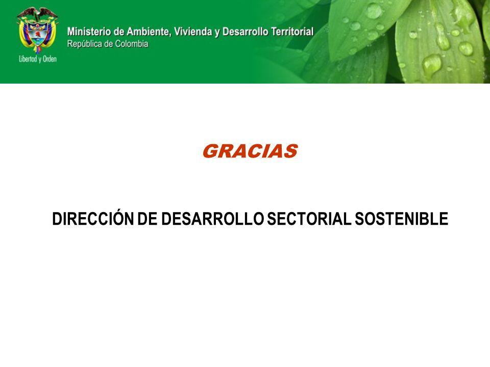 GRACIAS DIRECCIÓN DE DESARROLLO SECTORIAL SOSTENIBLE