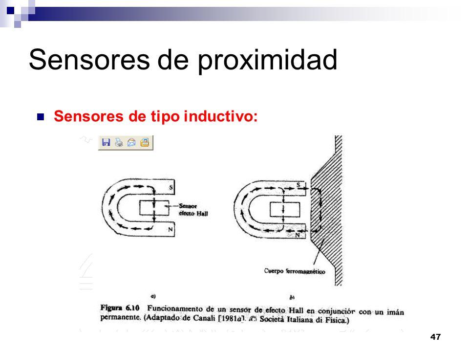 47 Sensores de proximidad Sensores de tipo inductivo: