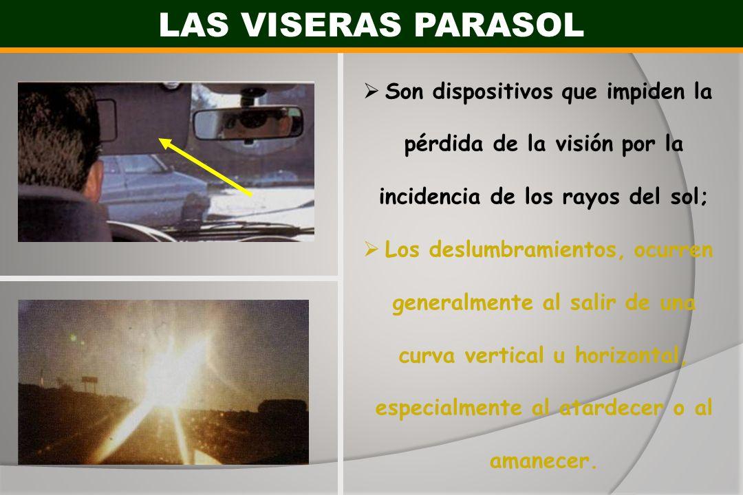 Son dispositivos que impiden la pérdida de la visión por la incidencia de los rayos del sol; Los deslumbramientos, ocurren generalmente al salir de un