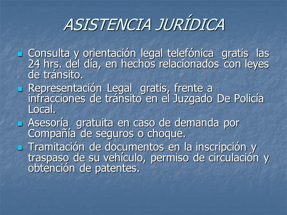 ASISTENCIA JURÍDICA Consulta y orientación legal telefónica gratis las 24 hrs.