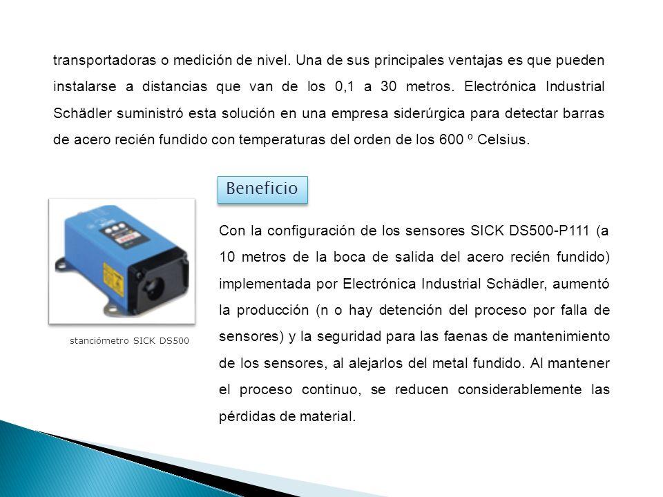 transportadoras o medición de nivel. Una de sus principales ventajas es que pueden instalarse a distancias que van de los 0,1 a 30 metros. Electrónica