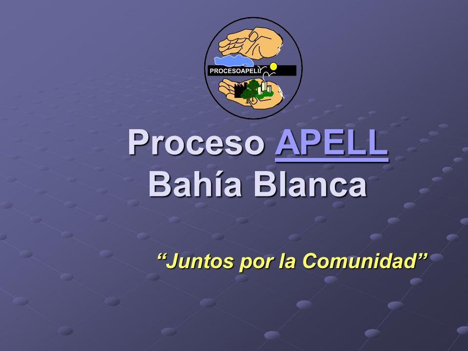 Proceso APELL Bahía Blanca APELL Juntos por la Comunidad