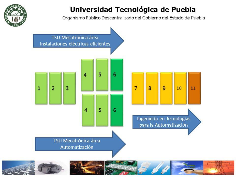 112233 44 5566 77889910101111 445566 TSU Mecatrónica área Instalaciones eléctricas eficientes TSU Mecatrónica área Automatización Ingeniería en Tecnol