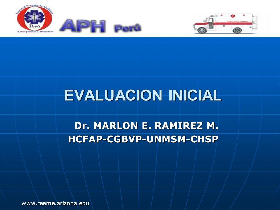 www.reeme.arizona.edu Evaluación Inicial Revisión secundaria