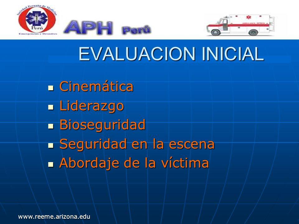 www.reeme.arizona.edu CONCEPTO TRAUMA: Injuria o herida causada por fuerza y/o violencia externa.