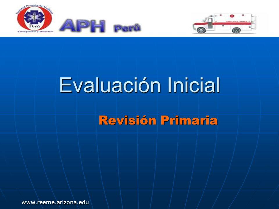 www.reeme.arizona.edu Evaluación Inicial Revisión Primaria