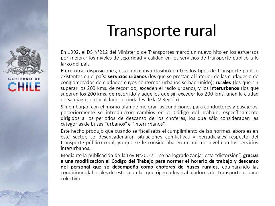 En 1992, el DS N°212 del Ministerio de Transportes marcó un nuevo hito en los esfuerzos por mejorar los niveles de seguridad y calidad en los servicio