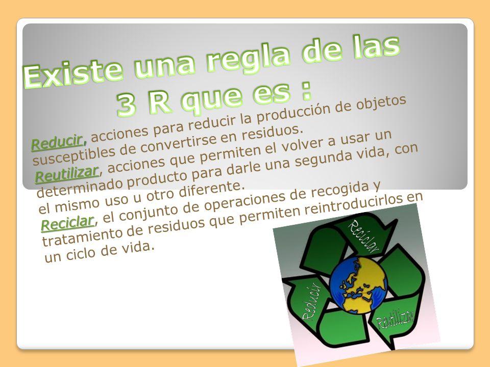 ReducirReducir, Reducir, acciones para reducir la producción de objetos susceptibles de convertirse en residuos.