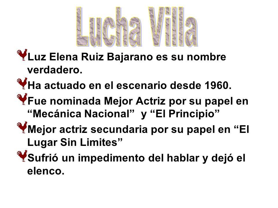 Luz Elena Ruiz Bajarano es su nombre verdadero. Ha actuado en el escenario desde 1960. Fue nominada Mejor Actriz por su papel en Mecánica Nacional y E