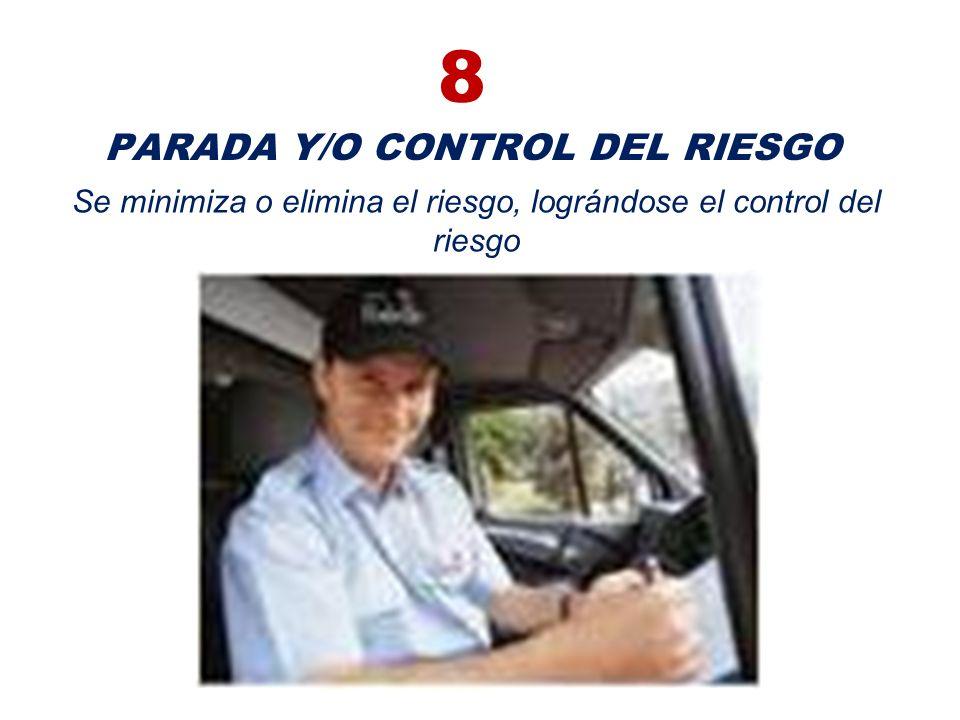 7 DISTANCIA DE PARADA El conductor culmina los movimientos realizados