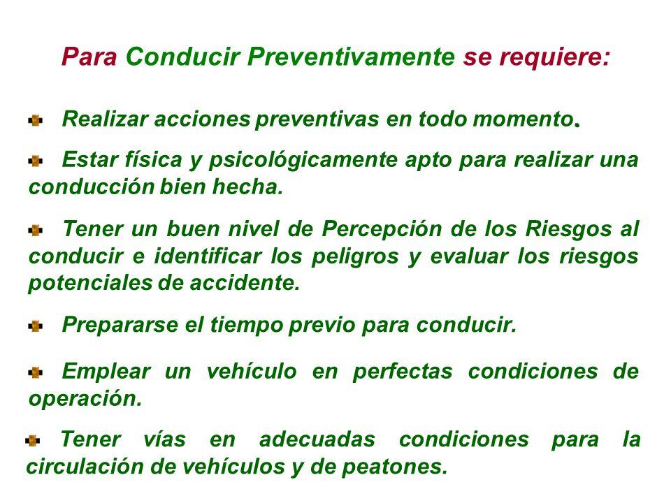 Conducir preventivamente, es conducir respetando la vida propia y la de los demás. Conducir preventivamente, es no tener pérdidas, tanto humanas, de t