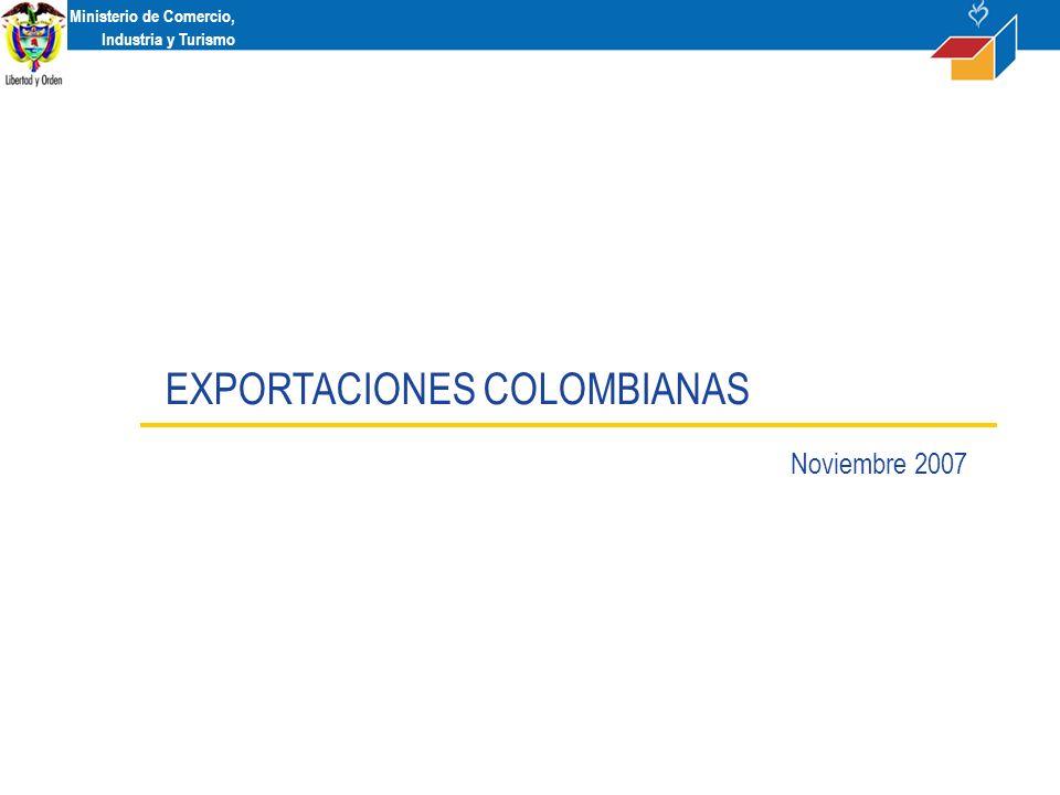 Ministerio de Comercio, Industria y Turismo EXPORTACIONES COLOMBIANAS Noviembre 2007