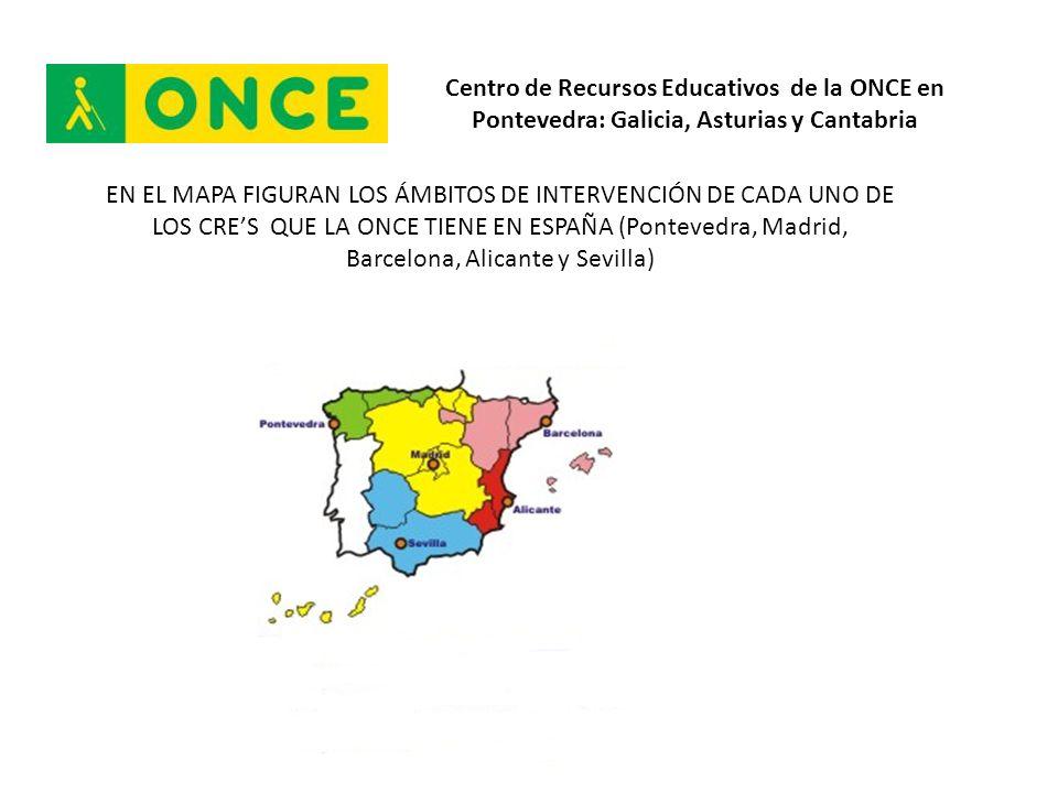 Centro de Recursos Educativos de la ONCE en Pontevedra: Galicia, Asturias y Cantabria SERVICIO DE FORMACIÓN DE PROFESIONALES 77 Acciones de Formación realizadas durante el curso 2011/2012 en el ámbito del Centro de Recursos Educativos de la ONCE en Pontevedra.