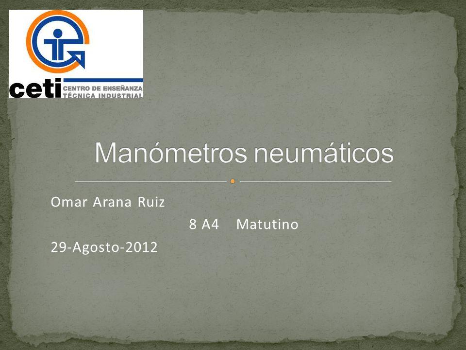 Los manómetros neumáticos se basan en que convierte el movimiento del elemento primario de medición a una señal neumática.