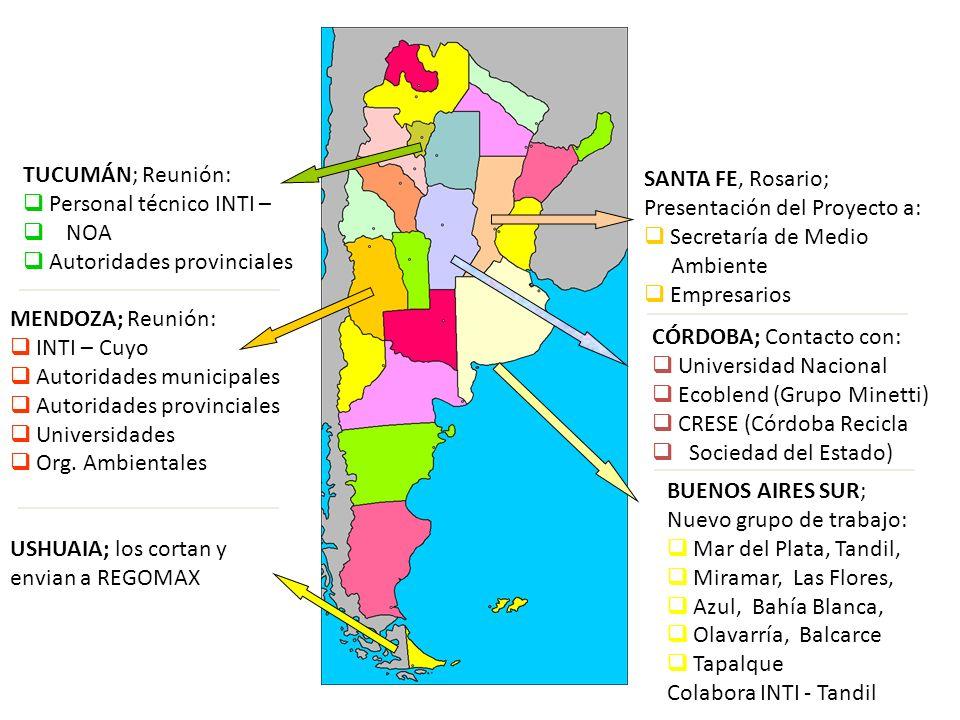 SANTA FE, Rosario; Presentación del Proyecto a: Secretaría de Medio Ambiente Empresarios CÓRDOBA; Contacto con: Universidad Nacional Ecoblend (Grupo M