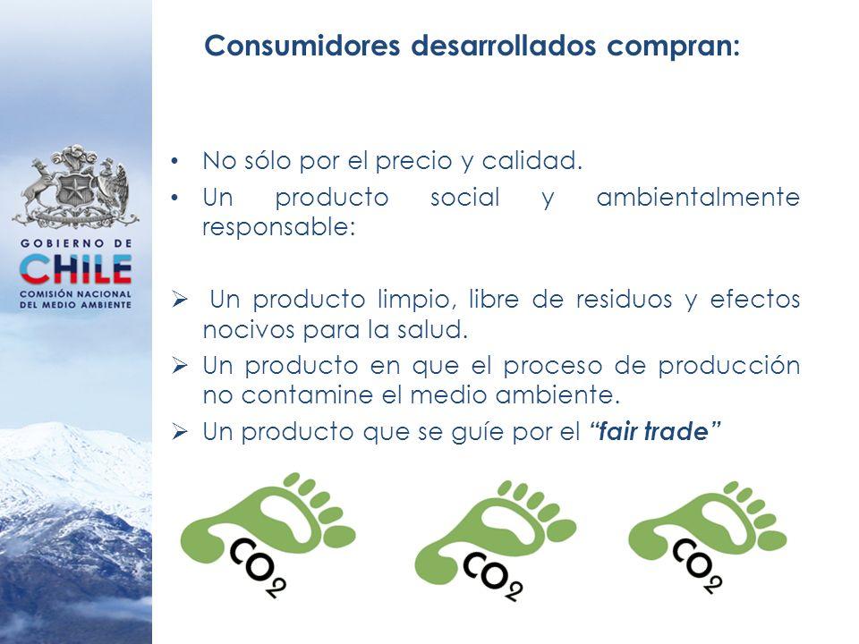 Consumidores desarrollados compran: No sólo por el precio y calidad. Un producto social y ambientalmente responsable: Un producto limpio, libre de res