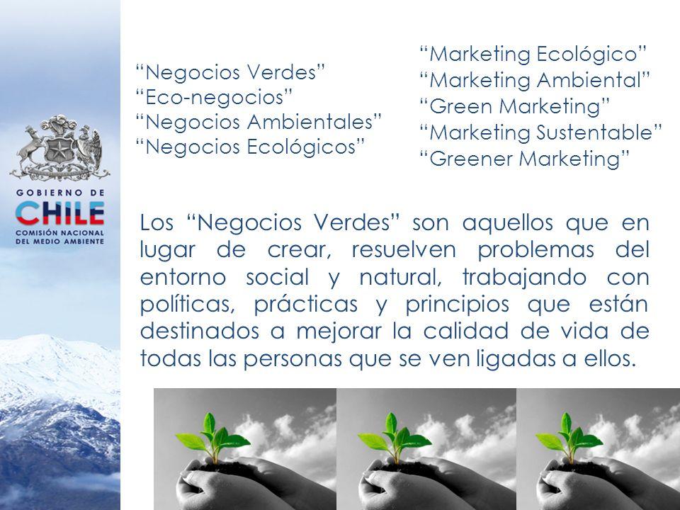 Los Negocios Verdes son aquellos que en lugar de crear, resuelven problemas del entorno social y natural, trabajando con políticas, prácticas y princi