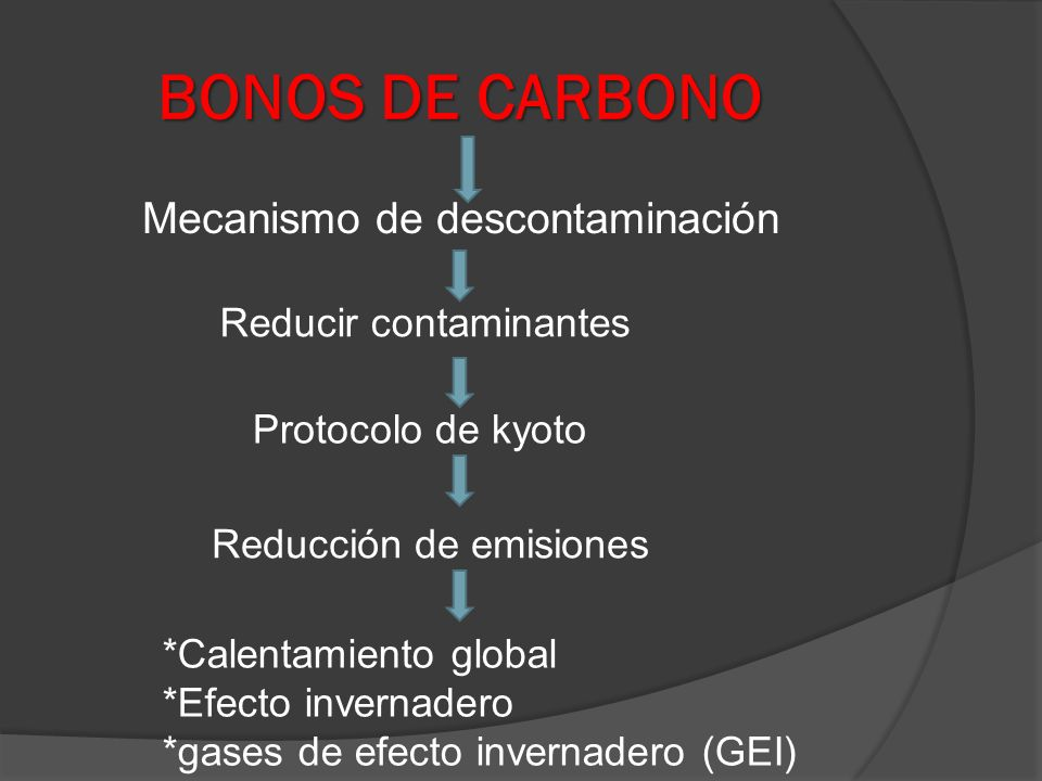 Mecanismo de descontaminación Reducir contaminantes Protocolo de kyoto Reducción de emisiones *Calentamiento global *Efecto invernadero *gases de efec