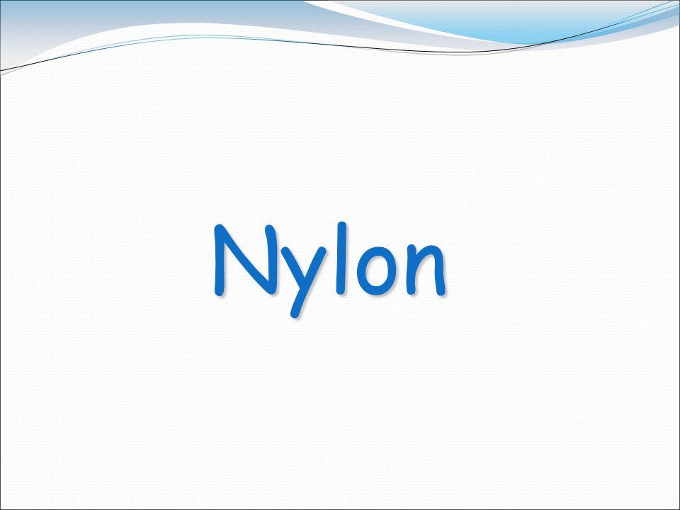 Fuentes naturales de obtención Los nylons también se llaman poliamidas, debido a los característicos grupos amida en la cadena principal.