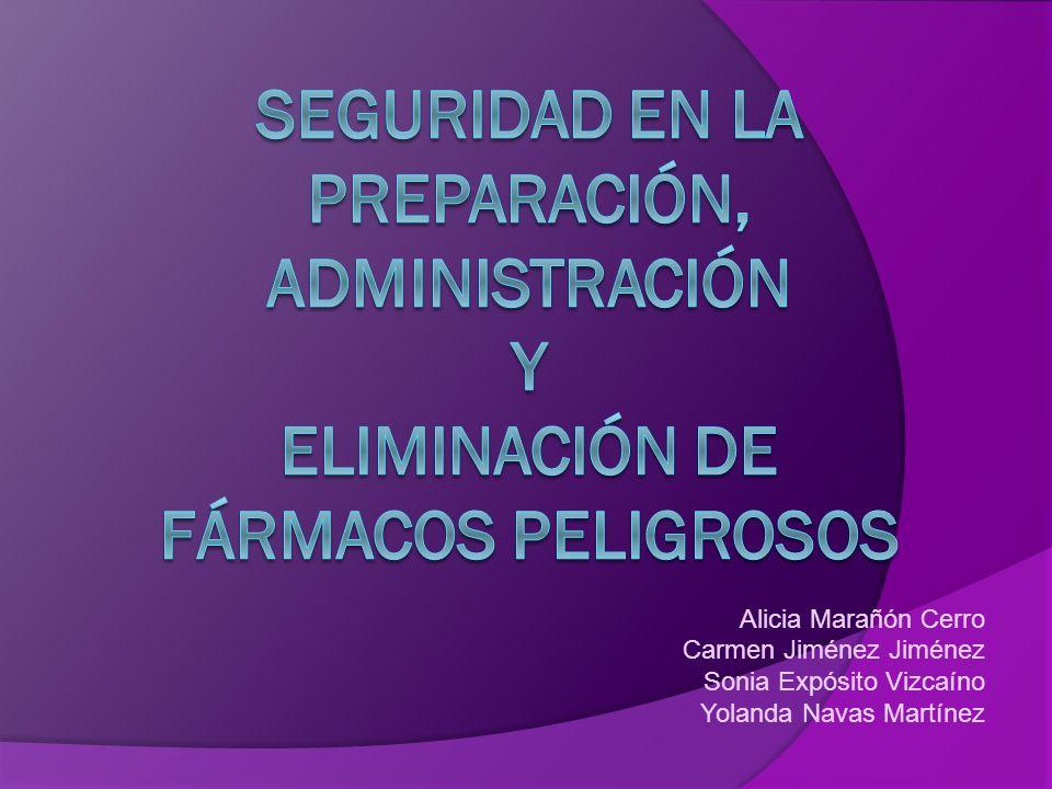Alicia Marañón Cerro Carmen Jiménez Jiménez Sonia Expósito Vizcaíno Yolanda Navas Martínez
