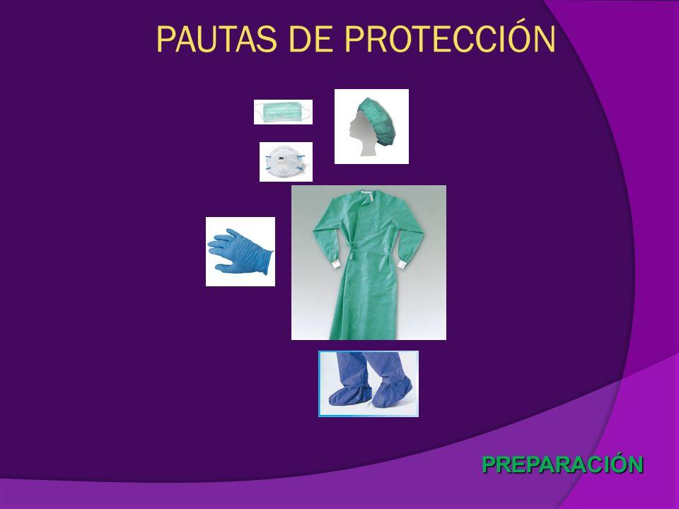 PREPARACIÓN PAUTAS DE PROTECCIÓN