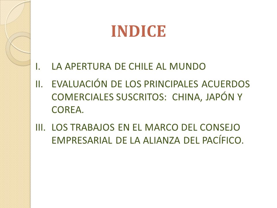 TRATADO DE LIBRE COMERCIO CHILE - CHINA