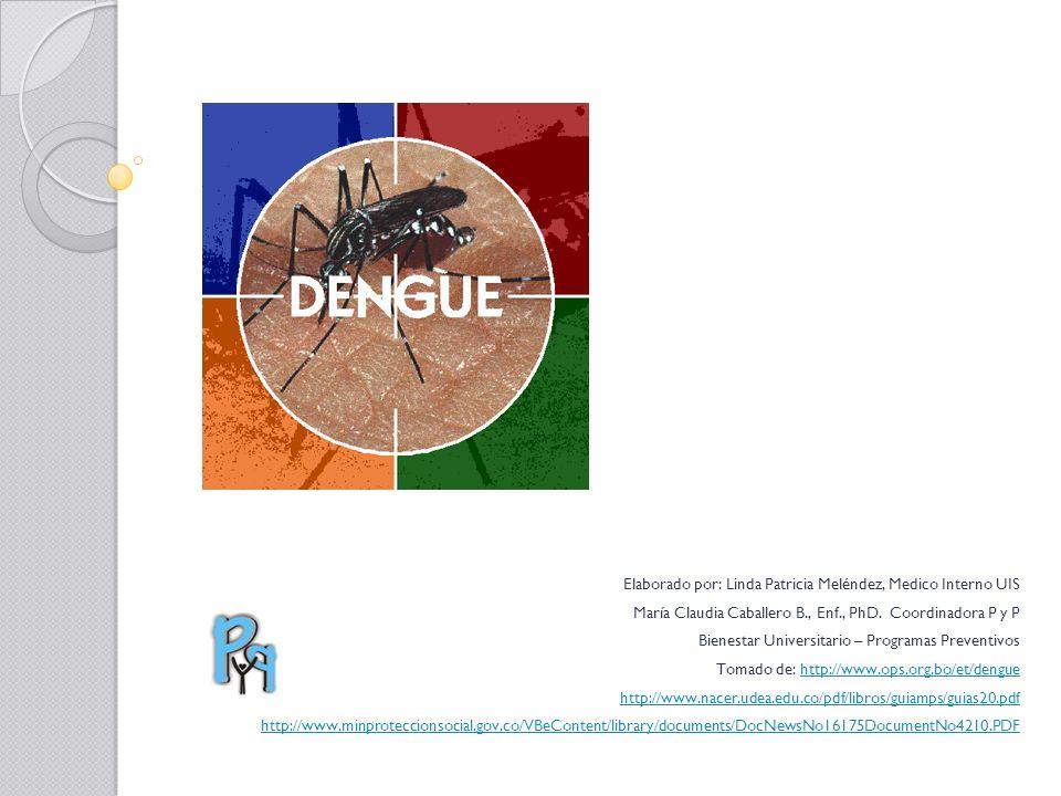 Elaborado por: Linda Patricia Meléndez, Medico Interno UIS María Claudia Caballero B., Enf., PhD. Coordinadora P y P Bienestar Universitario – Program