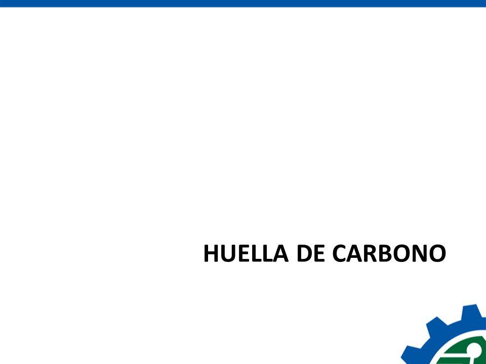 Huella de carbono de un producto Es la cuantificación de la cantidad de emisiones de gases de efecto invernadero (GEI), medidas en emisiones de CO 2 equivalente, que son liberados a la atmósfera debido a las actividades para producir y comercializar un producto Abarca todas las actividades de su ciclo de vida