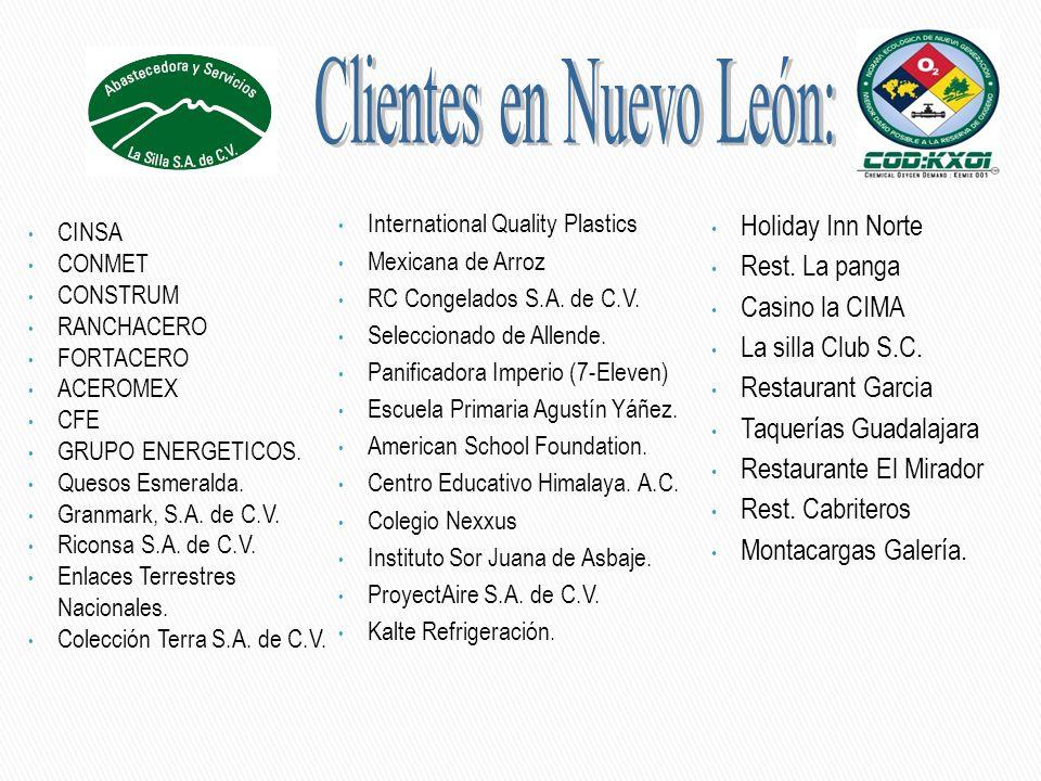 International Quality Plastics Mexicana de Arroz RC Congelados S.A. de C.V. Seleccionado de Allende. Panificadora Imperio (7-Eleven) Escuela Primaria