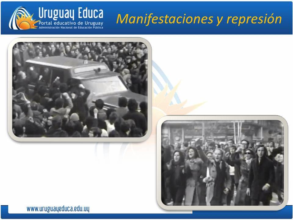 Manifestaciones y represión