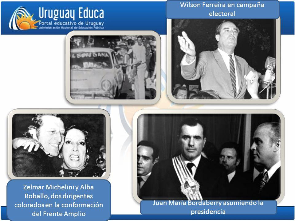 Zelmar Michelini y Alba Roballo, dos dirigentes colorados en la conformación del Frente Amplio Wilson Ferreira en campaña electoral Juan María Bordabe