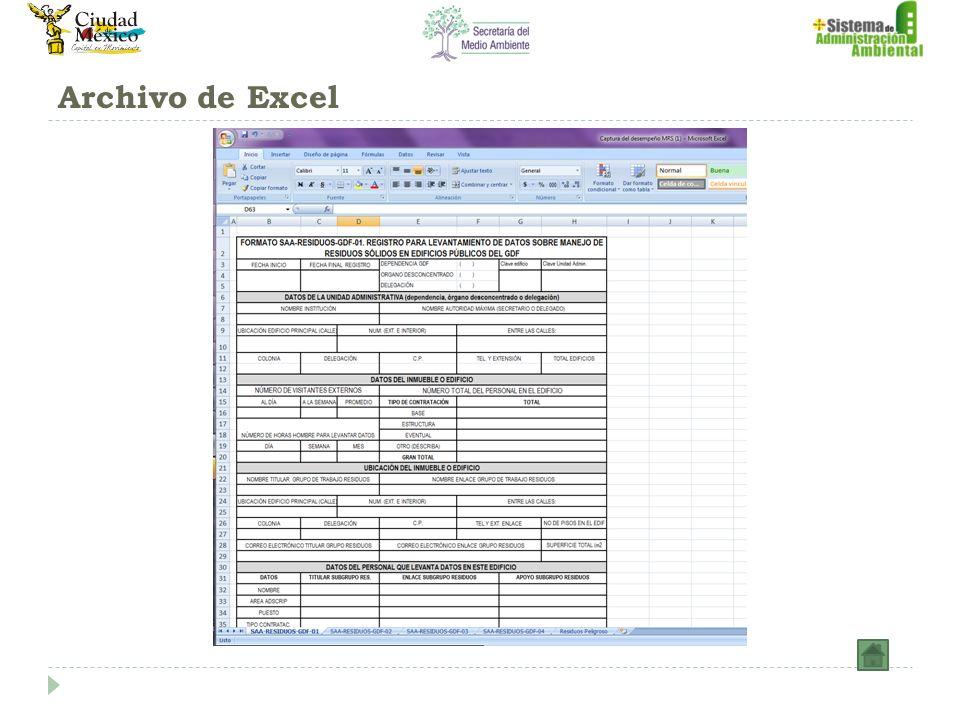 Archivo de Excel