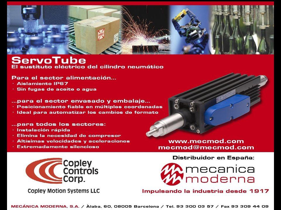 ServoTube, de Copley Controls El sustituto eléctrico del cilindro neumático