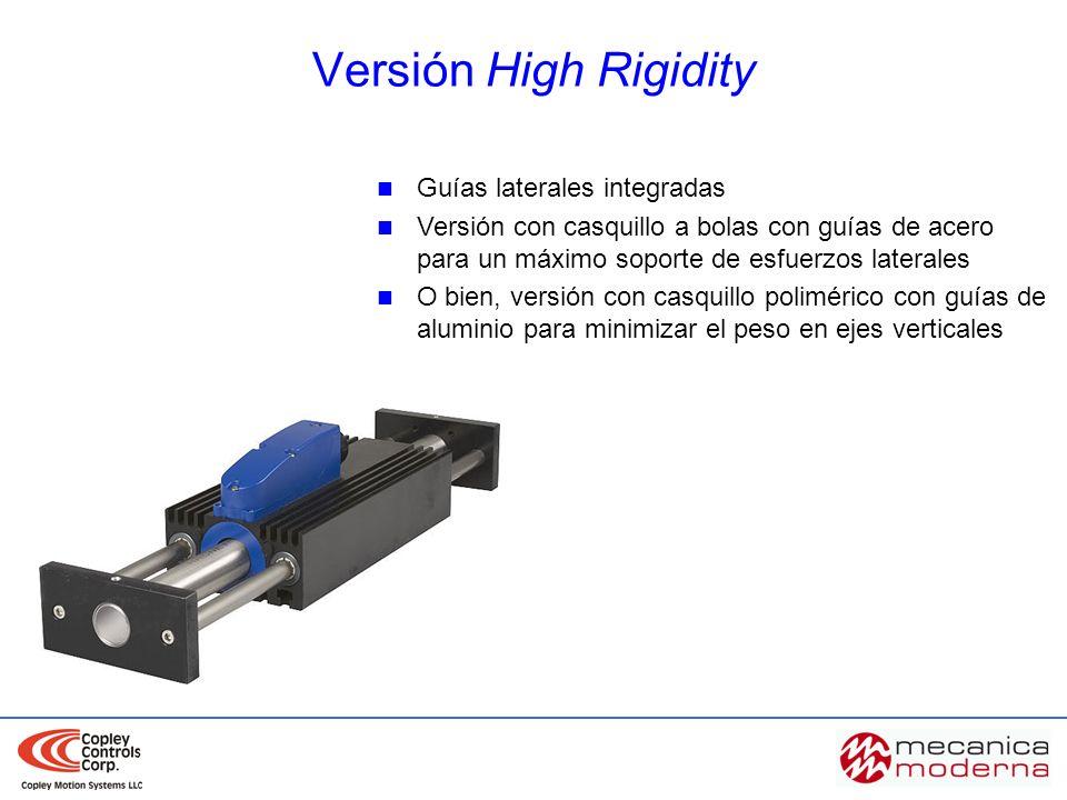 Guías laterales integradas Versión con casquillo a bolas con guías de acero para un máximo soporte de esfuerzos laterales O bien, versión con casquill