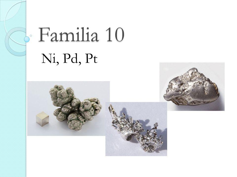 Familia 10 Ni, Pd, Pt