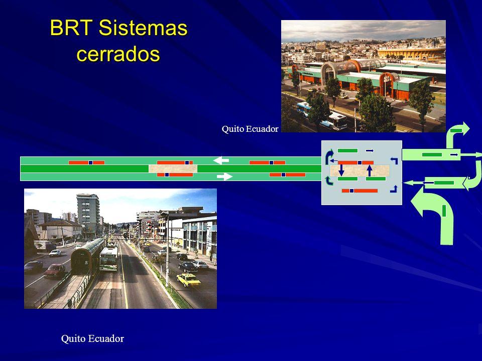 BRT Sistemas cerrados Quito Ecuador