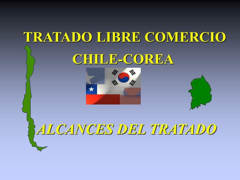 TRATADO LIBRE COMERCIO TRATADO LIBRE COMERCIOCHILE-COREA ALCANCES DEL TRATADO ALCANCES DEL TRATADO
