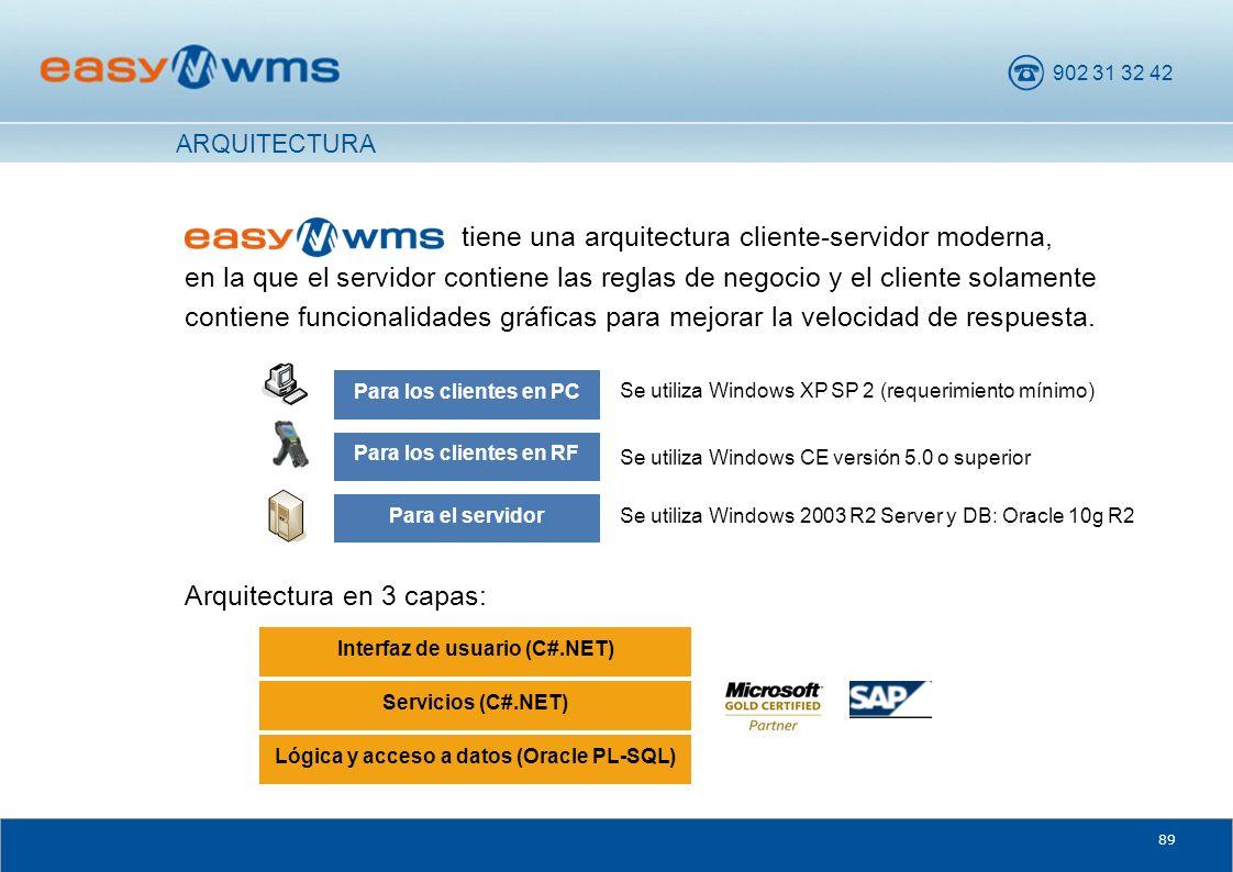 902 31 32 42 89 tiene una arquitectura cliente-servidor moderna, en la que el servidor contiene las reglas de negocio y el cliente solamente contiene