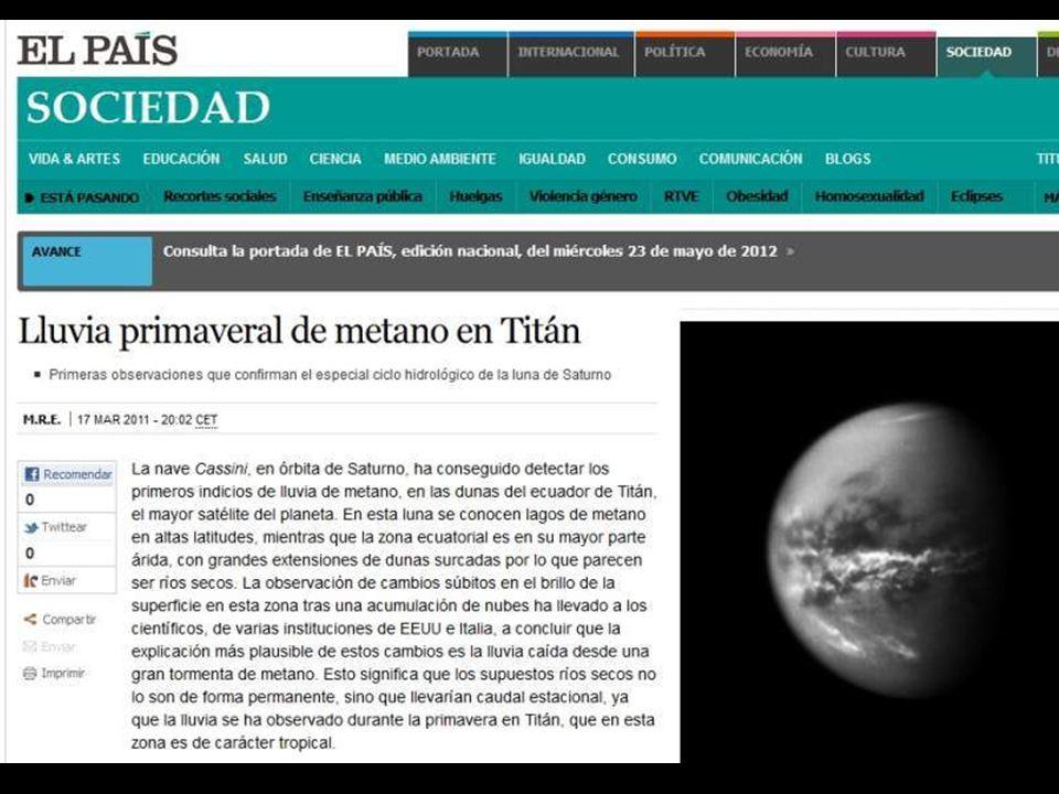 ¿EXISTIÓ ACUMULACIÓN DE ORGANISMOS FÓSILES EN TITÁN.
