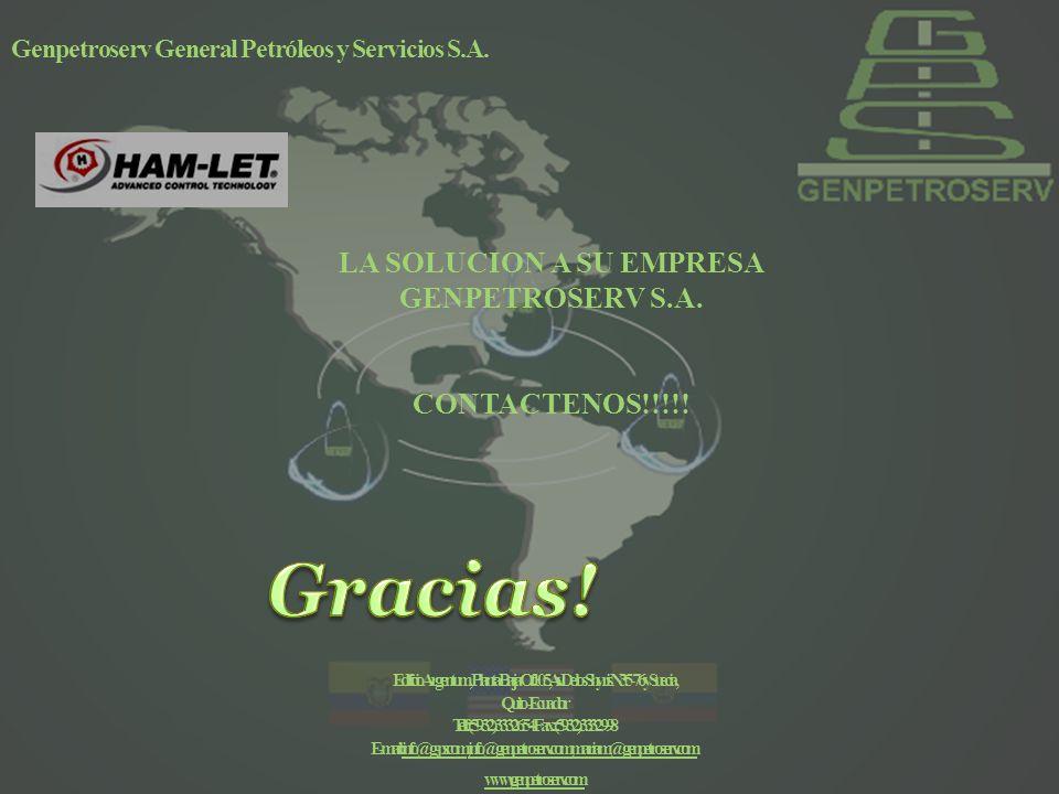 Genpetroserv General Petróleos y Servicios S.A.LA SOLUCION A SU EMPRESA GENPETROSERV S.A.