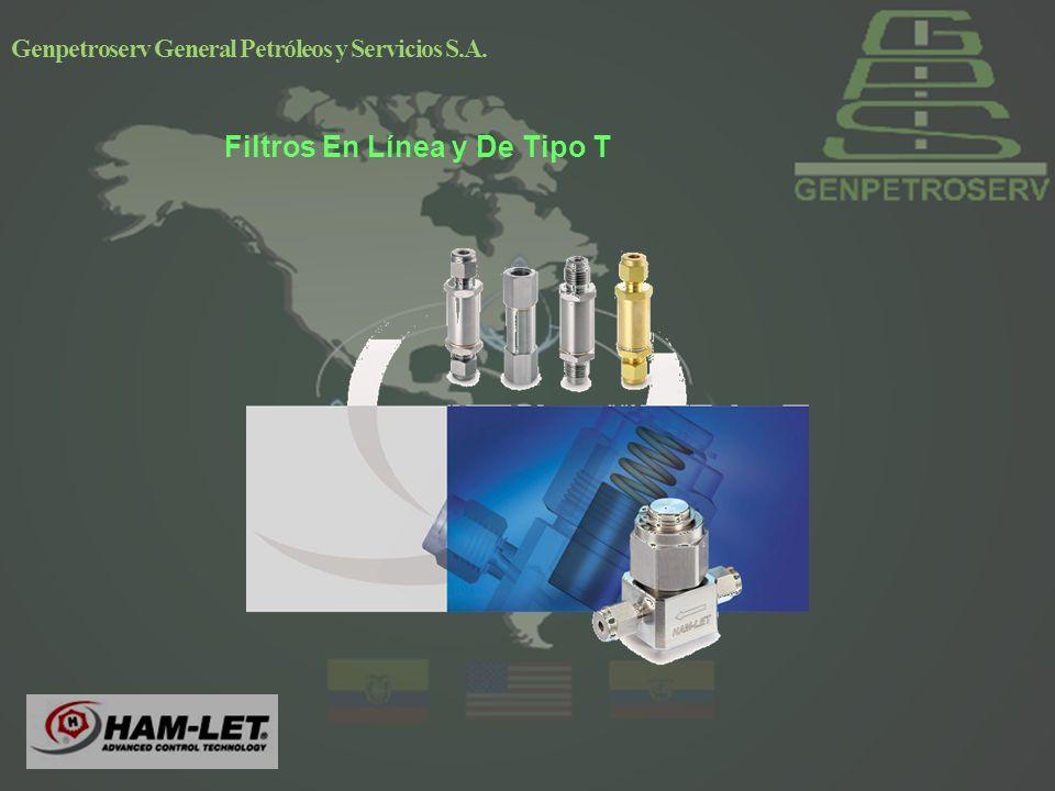 Genpetroserv General Petróleos y Servicios S.A. Filtros En Línea y De Tipo T