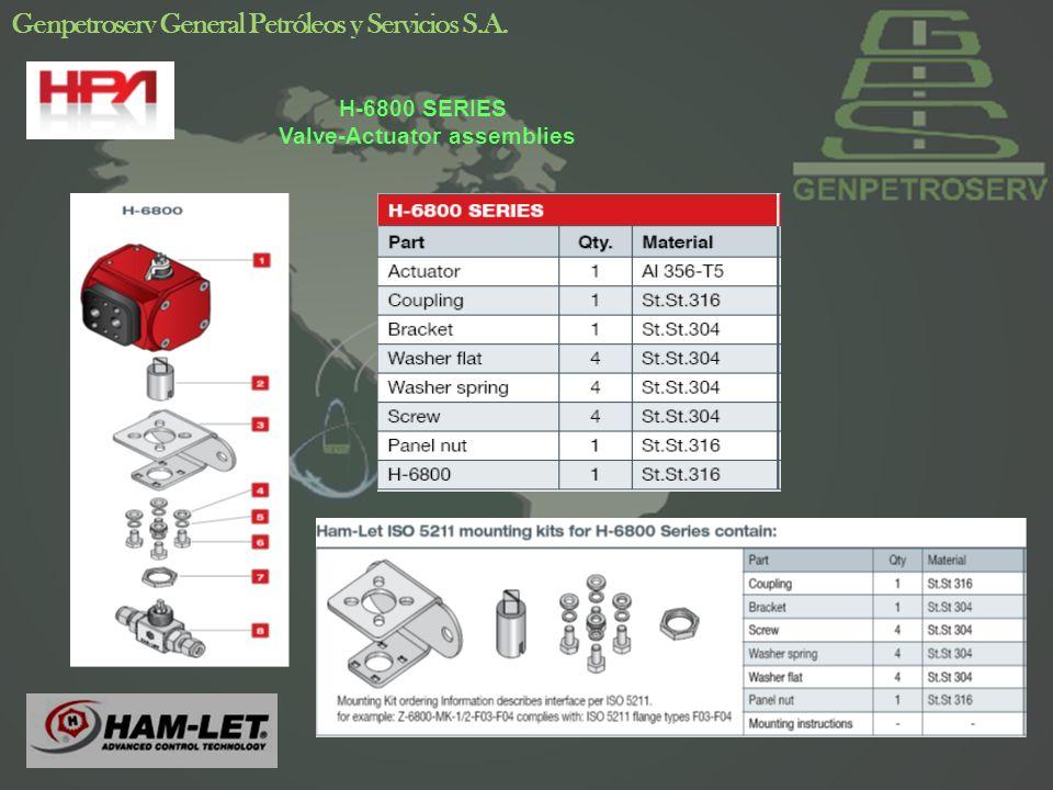 12 Genpetroserv General Petróleos y Servicios S.A. H-6800 SERIES Valve-Actuator assemblies