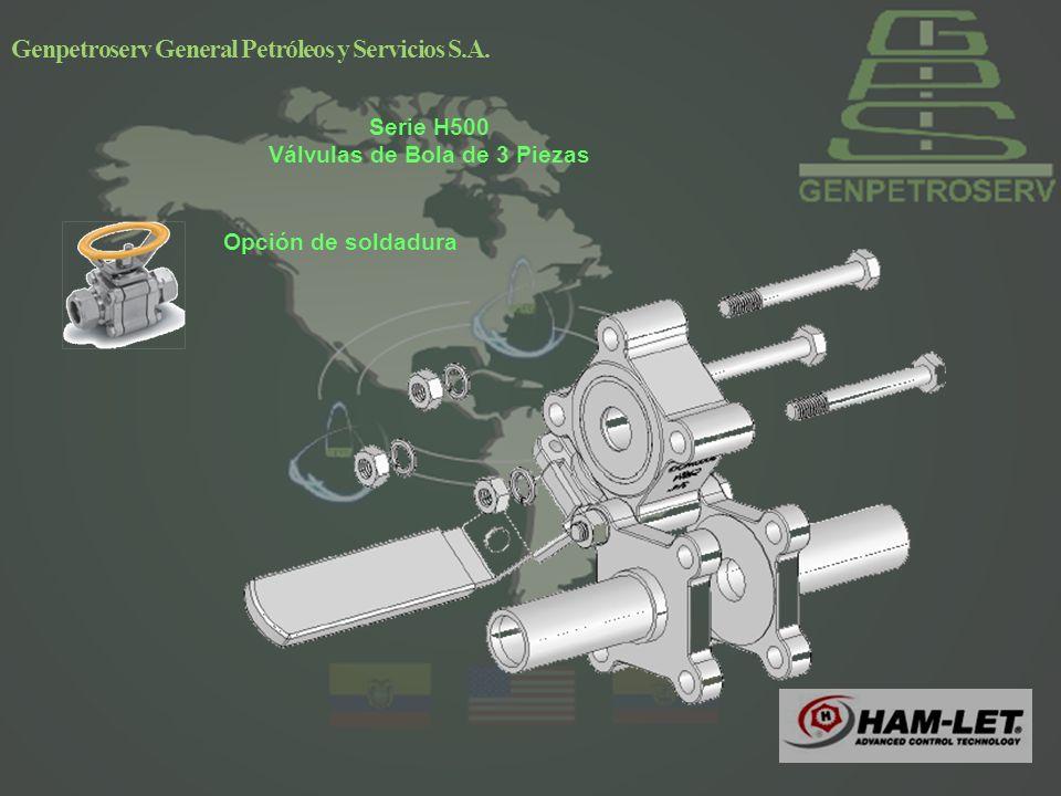Opción de soldadura Genpetroserv General Petróleos y Servicios S.A.