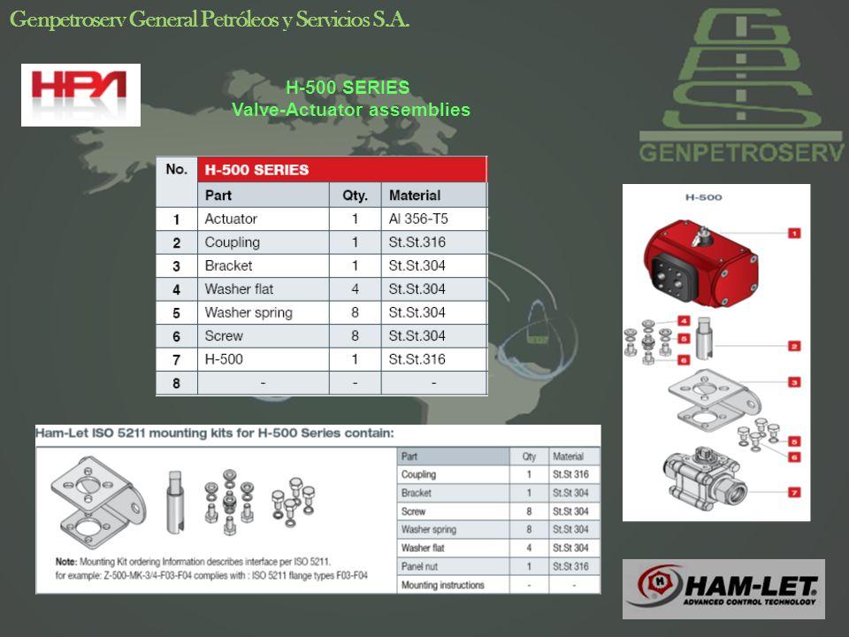 20 Genpetroserv General Petróleos y Servicios S.A. H-500 SERIES Valve-Actuator assemblies