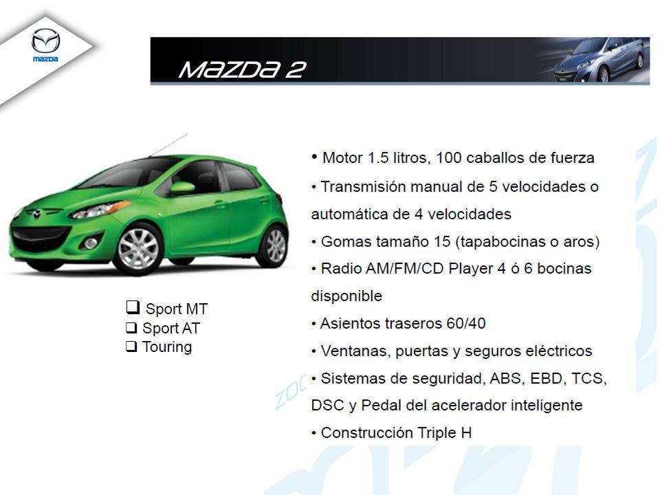 Mazda3 SKYACTIV Motor 2.0L SKYACTIV 28/40 MPG 155 hp y 148 lb-ft torque