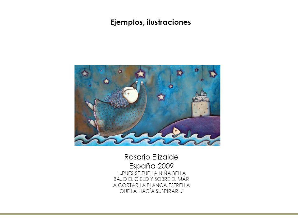 Ejemplos, ilustraciones Rosario Elizalde España 2009