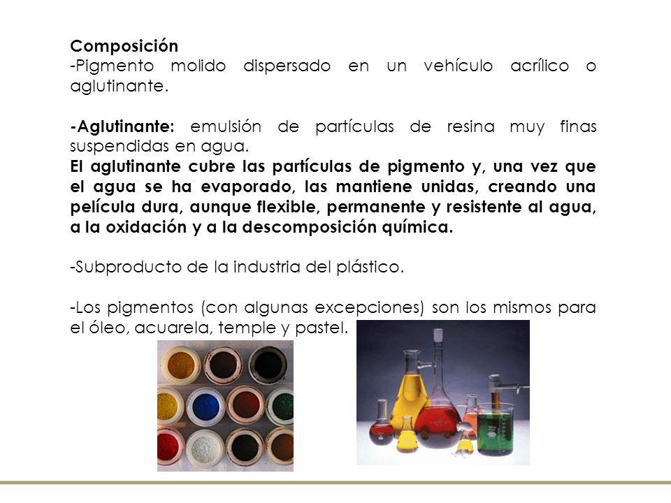 Antecedentes : Con el descubrimiento de las materias plásticas entre las décadas de 1940 y 1950, duras resinas acrílicas sintéticas que se empleaban en la industria se comienzan a utilizarse para las Artes y el Diseño.