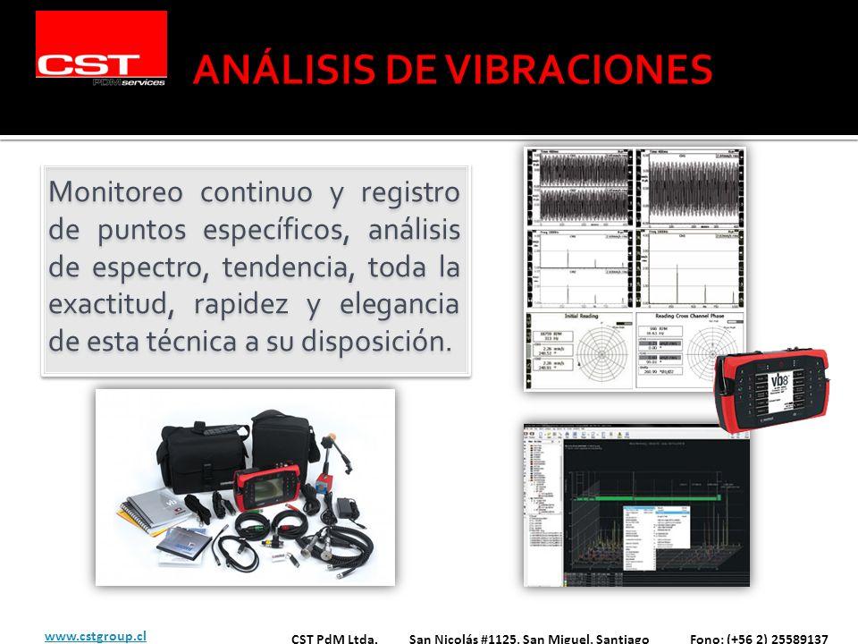 Monitoreo continuo y registro de puntos específicos, análisis de espectro, tendencia, toda la exactitud, rapidez y elegancia de esta técnica a su disp
