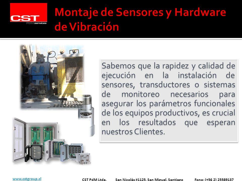 Sabemos que la rapidez y calidad de ejecución en la instalación de sensores, transductores o sistemas de monitoreo necesarios para asegurar los paráme