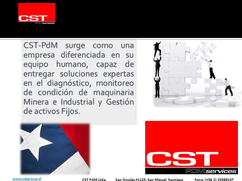 CST-PdM surge como una empresa diferenciada en su equipo humano, capaz de entregar soluciones expertas en el diagnóstico, monitoreo de condición de ma
